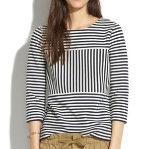 Madewell Gallerist Ponte Top in Stripe